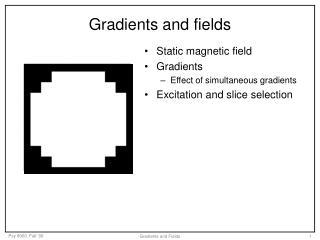 Gradients and fields