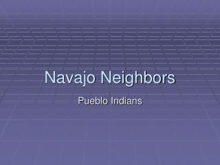 Navajo Neighbors