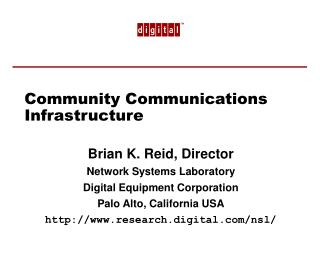 Community Communications Infrastructure