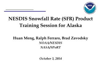 Snowfall Rate Product