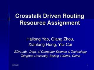 Crosstalk Driven Routing Resource Assignment