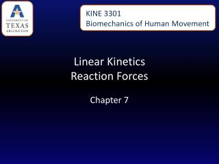 Linear Kinetics Reaction Forces