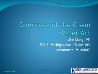 Overview of the Clean Water Act