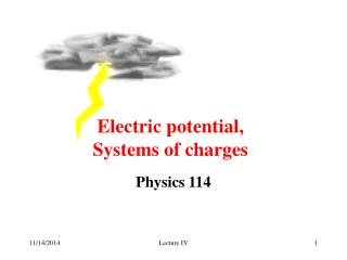 Electric potential, Systems of charges