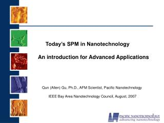 Today's SPM in Nanotechnology