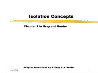 Isolation Concepts