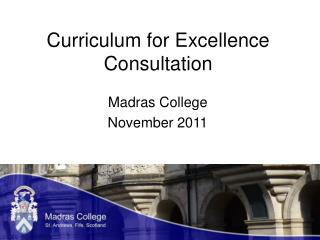 Curriculum for Excellence Consultation