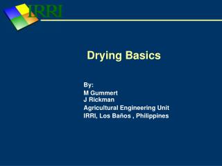 Drying Basics