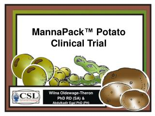 MannaPack™ Potato Clinical Trial