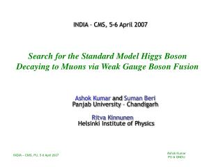 Search for the Standard Model Higgs Boson Decaying to Muons via Weak Gauge Boson Fusion