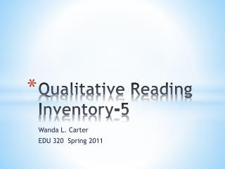 Qualitative Reading Inventory-5