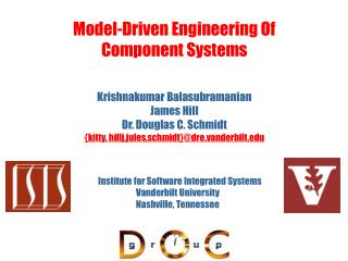 Model-Driven Engineering Of Component Systems