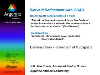 Rietveld Refinement with GSAS
