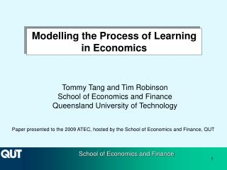 Modelling the Process of Learning in Economics