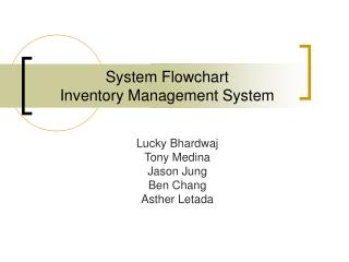 System Flowchart  Inventory Management System