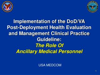 THE ROLE OF ANCILLARY PERSONNEL IN THE IMPLEMENTATION OF CLINICAL ...