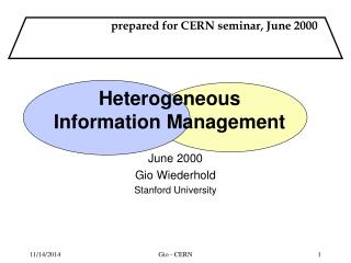 Heterogeneous   Information Management