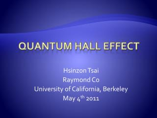 Quantum Hall Effect