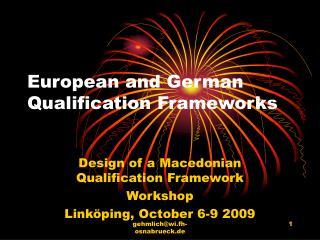 European and German Qualification Frameworks