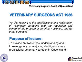 VETERINARY SURGEONS ACT 1936