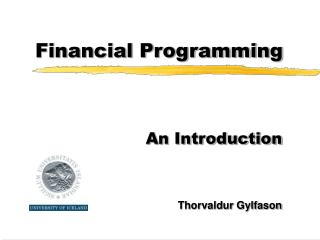 Financial Programming