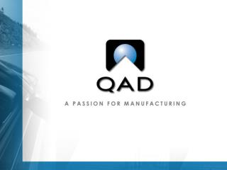 QAD:  The Big Picture