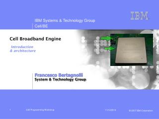 Cell Broadband Engine Introduction & architecture