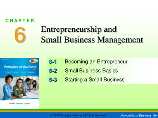 6-1 Becoming an Entrepreneur 6-2 Small Business Basics 6-3 Starting a Small Business