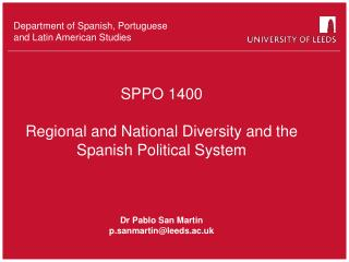 Department of Spanish, Portuguese  and Latin American Studies