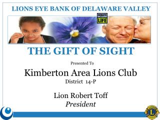 LIONS EYE BANK OF DELAWARE VALLEY
