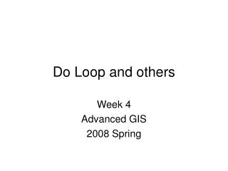 Do Loop and others