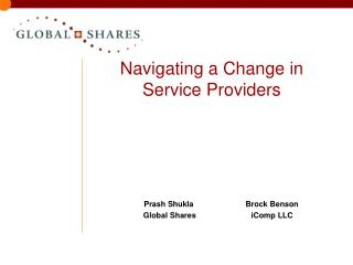 Navigating a Change in Service Providers