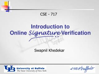 Introduction to  Online  Signature  Verification