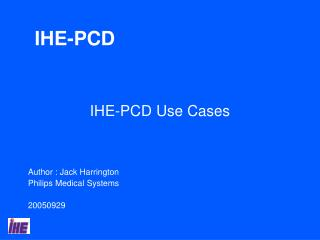 IHE-PCD Use Cases
