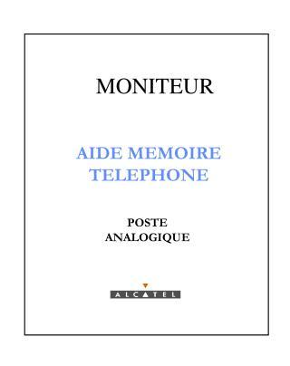 AIDE MEMOIRE TELEPHONE