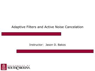 Adaptive Filters and Active Noise Cancelation