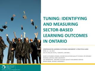 Tuning: Identifying and measuring sector-based learning outcomes in  Ontario