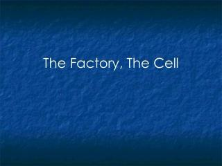 The Factory, The Cell