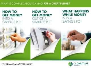 WHAT IS COMPLEX ABOUT  SAVING  FOR A GREAT FUTURE?
