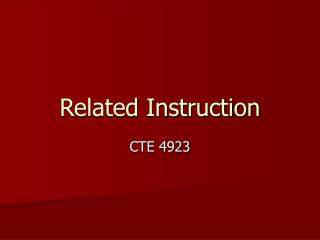 Related Instruction