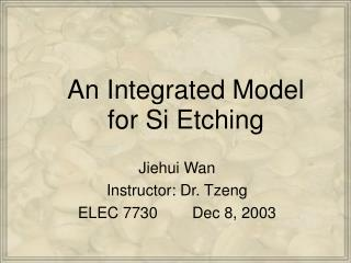 An Integrated Model for Si Etching