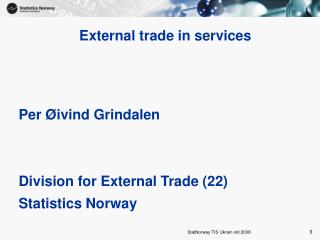 External trade in services