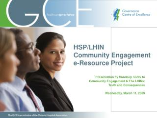 HSP/LHIN  Community Engagement  e-Resource Project