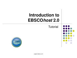 Introduction to  EBSCO host  2.0