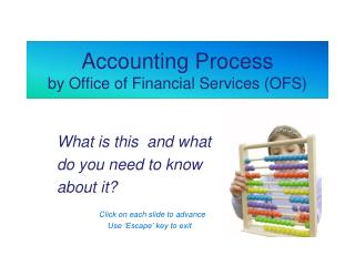 Accounting Process by Office of Financial Services (OFS)