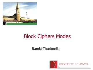 Block Ciphers Modes