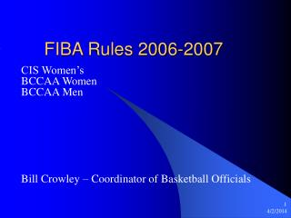 FIBA Rules 2006-2007