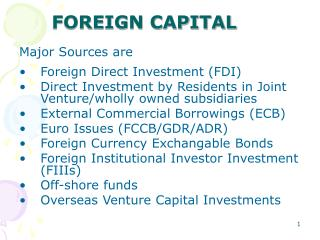 FOREIGN CAPITAL