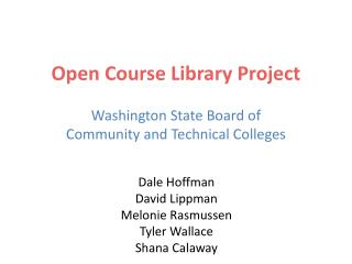 Open Course Library Project