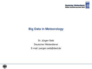 Big Data in Meteorology